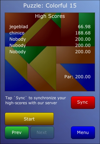 Screenshot iPushFit Jigsaw Lite