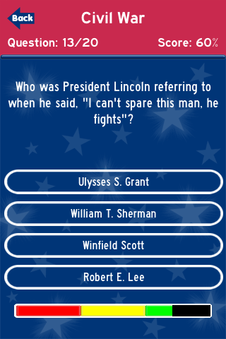Screenshot American History Trivia Challenge